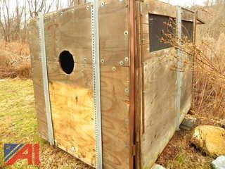 Steel Frame 6' x 8' Wooden Leaf Box
