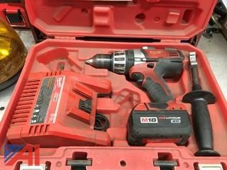 (#10) Milwaukee M18 1/2 Drill with Case