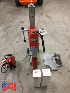 (#16) Milwaukee Dymodrill Diamond Coring Drill Assembly