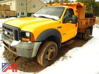 2006 Ford F450 Super Duty Dump Truck with Plow