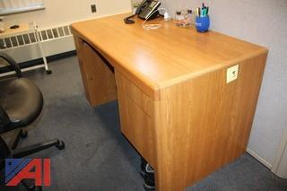 Desk & Privacy Wall