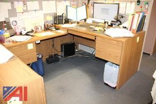 Desks & Privacy Wall