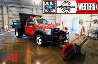 2012 Ford F550 Dump Truck with Plow