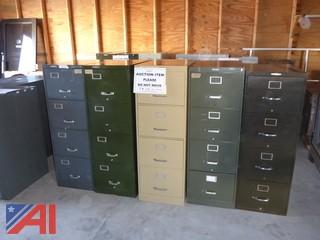 (#1601) Legal Size Metal File Cabinets
