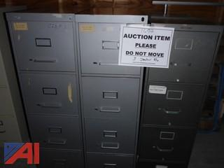 (#1602) Standard Size Metal File Cabinets