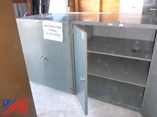 (#1603) Metal Storage Cabinets