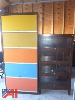 (#1604) Metal Storage Cabinets