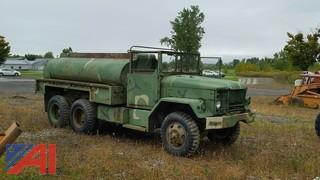White Military Water Truck