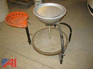 Pottery Wheel with Seat