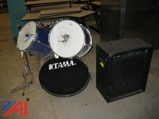 Drum Set and Amp