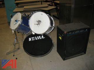 Drum Set and Amp