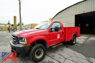 2002 Ford F350 XL Super Duty 9' Utility Truck with Plow/T45