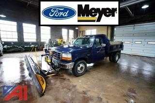 1993 Ford F350 XL Dump Truck with Plow
