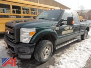 2011 Ford F250 Super Duty Pickup Truck & Plow