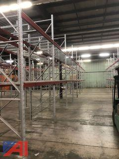 Red Pallet Racking Beams Only