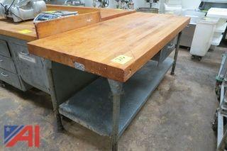 Wood Top Prep Table