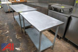 Stainless Steel Prep Tables and Shelf