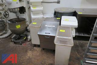 Assorted Plastic and Stainless Steel Storage Bins