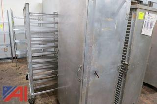 Winn Holt Heater Proofer and Enclosed Cabinets on Wheels