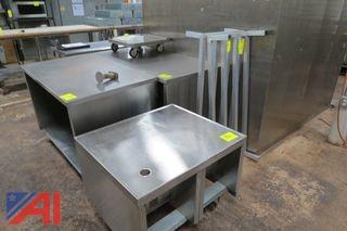 Stainless Steel Tables, Roller Dolly and Dunnage Racks