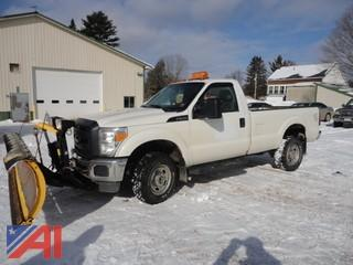 2014 Ford F250 XL Super Duty Pickup Truck & Plow