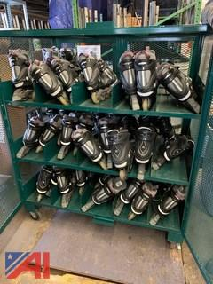 Cabinet of In-Line Skates and Helmets and More