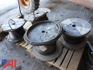 Partial Spools of Wire Rope