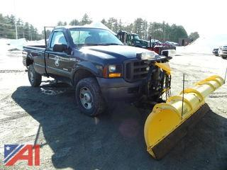 2005 Ford F350 Pickup Truck with Plow
