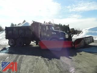 2009 Mack GU800 Dump Truck with Salter, Plow and Wing