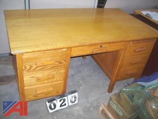 Wooden Desk, E#39783
