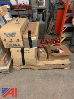 Pallet of Misc Ductwork and Pumps