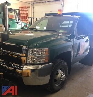 2010 Chevy Silverado 3500HD Dump Truck with Plow