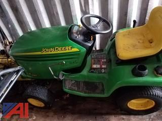 John Deere LX280 Riding Mower with Snow Blower