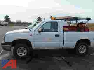 2003 Chevy Silverado 1500 Pickup Truck with Plow
