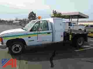 1994 Chevy C/K 3500 Stakebody Pickup Truck with Flat Bed