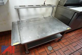 "54"" S/S Grill Stand with Riser"