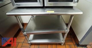 S/S Utility Stand with Two Lower Shelves