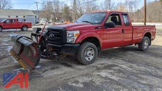 2011 Ford F250 XL Super Duty Pickup Truck & Plow