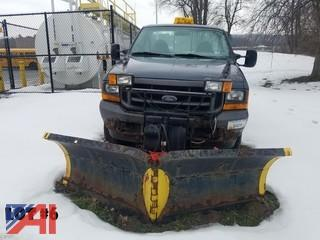2001 Ford F350 XL Super Duty Pickup Truck with Plow