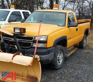 (#3F) 2006 Chevy Silverado 2500HD Pickup Truck with Plow