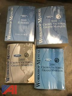Various Shop Manuals, Lot #3 and lot #4