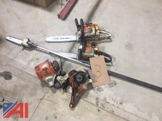 Stihl Chain Saws and Pole Pruner