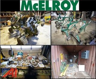 McElroy Fusion Machine, Parts, Cargo Container & More