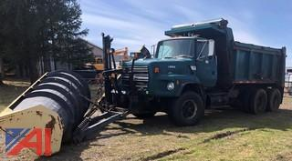 1994 Ford LTS9000 Dump Truck with plow, wing and sander
