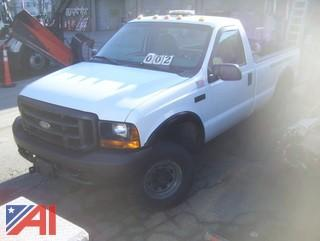 1999 Ford F250 Super Duty Pickup Truck with Plow