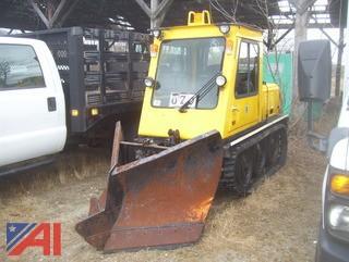 Bombardier SW48-DA Sidewalk Tractor with V Plow