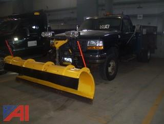 1997 Ford F350 XL Utility Truck with Plow