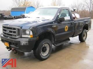 2003 Ford F350 Super Duty Pickup Truck with Plow