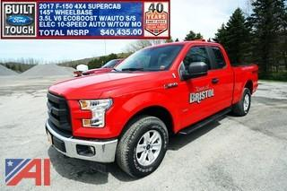 """Reduced Buyers Premium"" 2017 Ford F150 Supercab Pickup Truck"