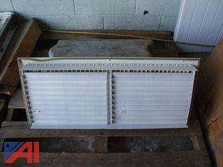 White Steel Louvered Ventilation Grilles
